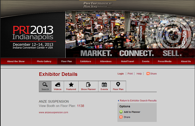 PRI Booth Location